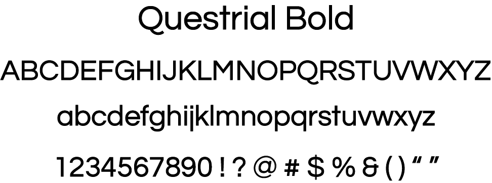 Display of Questrial Bold